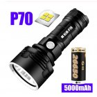 Super Powerful LED Flashlight USB Rechargeable Waterproof Lamp Ultra Bright Torch for Camping P70 with 5000 mAh battery
