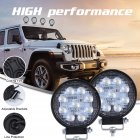 Super Slim Round Spotlight Beam Led Work Light Driving Fog Lights