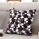 Super Soft Fleece Pillow Case Waist Throw Cushion Cover for Home Sofa Car Decoration Coffee stone print
