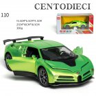 Supercar Simulation Model For Bugatti 1:32 Model 4Open Sound  Light The Door  Pull Back That will Run Toy green