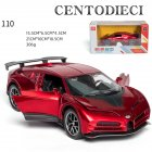 Supercar Simulation Model For Bugatti 1 32 Model 4Open Sound  Light The Door  Pull Back That will Run Toy red