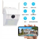 Surveillance Camera Outdoor Home Security Camera 1080P 2 4G WiFi Night Vision with LED Motion Sensor Two Way Audio Cloud Storage Motion Detection white