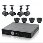 Surveillance kit complete with 8 Night Vision Security Cameras and 1TB hard drive for complete outdoor and indoor coverage for your home or business