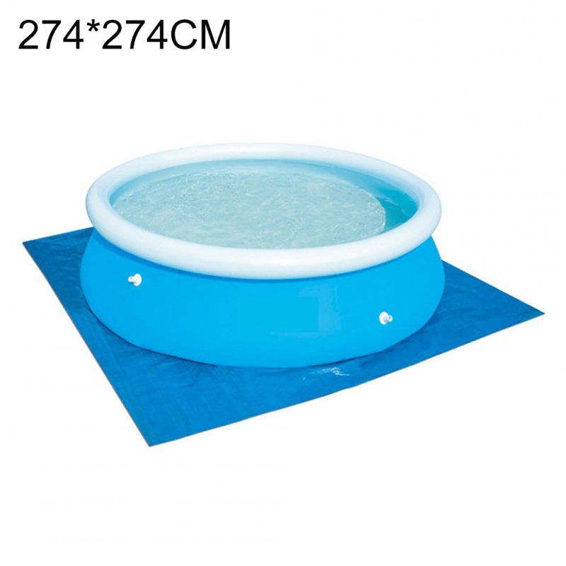 Swimming Pool Cover Placemat Cloth Square Frame Ground Pool Mat Family Garden Pools Swimming Pool Accessories blue_274 * 274CM