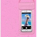 Swimming Waterproof Bag Touch Screen Underwater Phone Case  Pink_6.4 inch