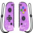 Switch Joy Con Wireless Gaming NS (L/R) Controllers Bluetooth Gamepad Transparent purple