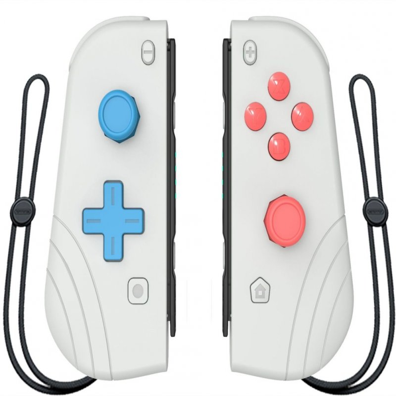 Switch Joy Con Wireless Gaming NS (L/R) Controllers Bluetooth Gamepad Light gray