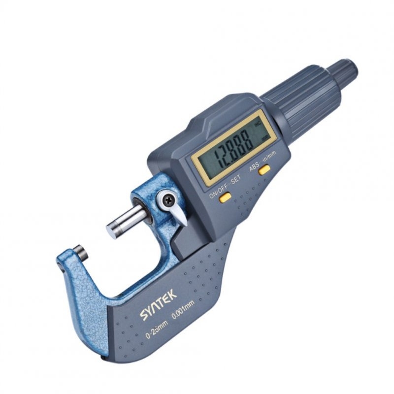 Syntek Micrometer High Quality Steel High Precision 0.001mm Digital Display 25-50mm