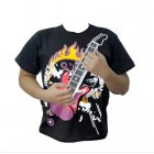 T Shirt with a built in playable guitar which includes 12 chords  amp  adjustable tone  volume controls  and is machine washable