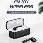 T06 Bluetooth 5.0 Touch Control Earphones for Both Ears 2500mAh Charging Case Wireless Headset T06-black