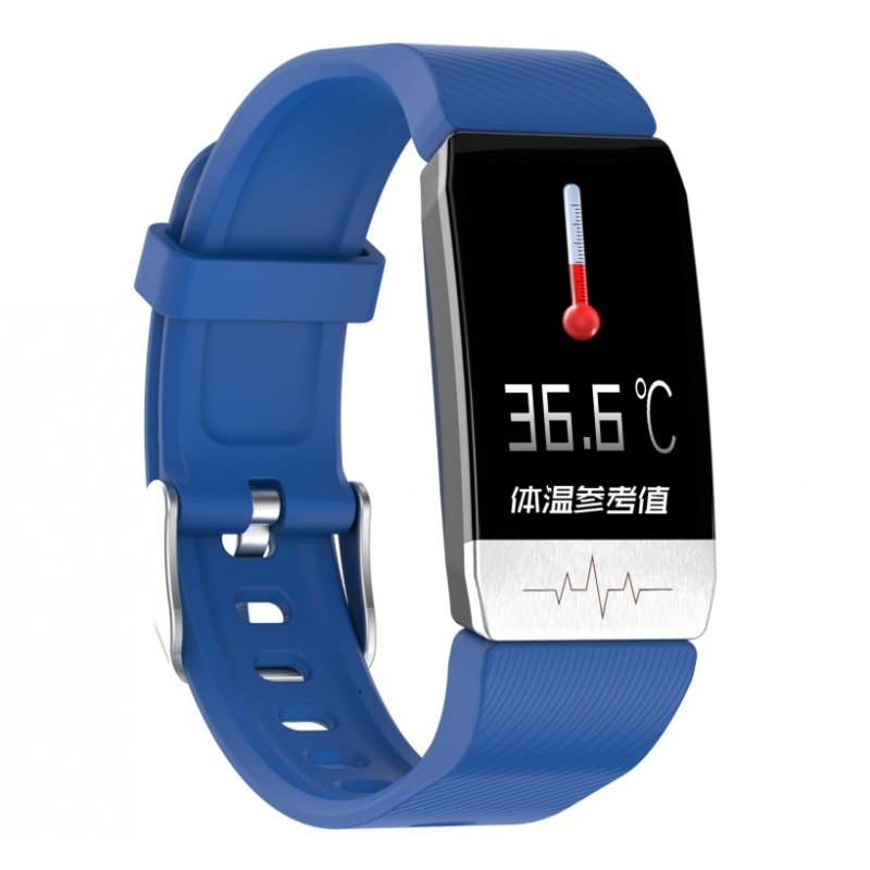 T1 Smart Bracelet Fitness Tracker Blood Oxygen Blood Pressure Watches Smartwatch Activity Tracker blue