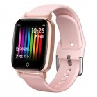T1 Smart Watch Men Women Body Temperature Measurement Heart Rate Pedometer Band Pink