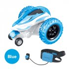 T12B 3-wheels Rotating Stunt Car 2.4G Watch Remote Control Rolling Car Model Children Electric Toy Gift blue