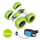 T13B 2.4G Rotating Stunt Car Watch Remote Control Swing Arm Rolling Car Model Children Electric Toy Gift green