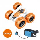 T13B 2.4G Rotating Stunt Car Watch Remote Control Swing Arm Rolling Car Model Children Electric Toy Gift Orange