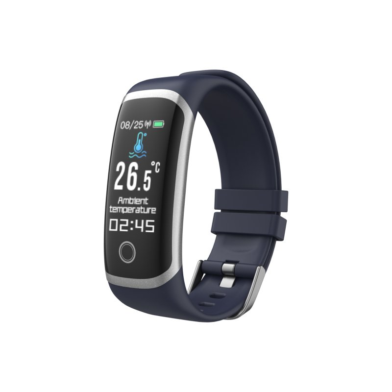 T4 Sport Smart Watch Temperature Measurement Bracelet Health Monitor Heart Rate Fitness Monitoring IP67 Waterproof blue