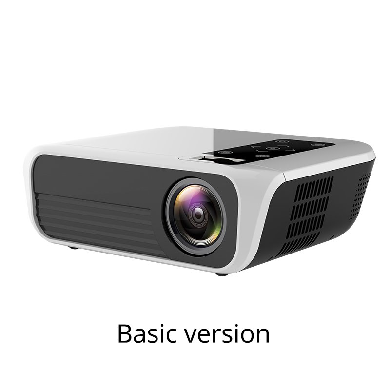 T500 Mini Digital Projector 1080P High Definition LED Home Projector Portable white_US Plug