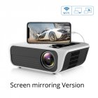 T500 Mini Projector 1080P High Definition LED Home Digital Projector Portable for Mobile Phone white_US Plug