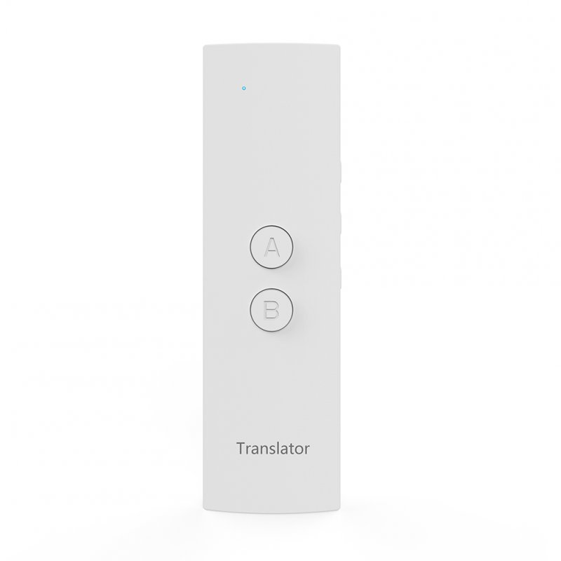 T6 Smart Translator Bluetooth Wireless Translation Pen Real Time Voice for Business Travel Use white