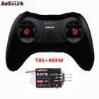 T8S 8CH RC Radiolink Remote Controller Transmitter 2 4G with R8EF or R8FM Receiver Handle Stick for FPV Quad Drone Airplane Car T8S R8FM left hand throttle