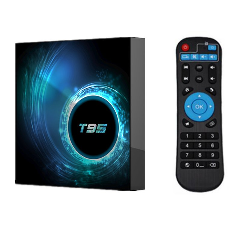 T95 TV Box Android 10 4GB 32GB 64GB Allwinner H616 Quad Core 1080P H.265 4K TVBOX 2GB 16GB Android 10.0 Set top box black_2GB + 16GB with G10 voice remote control
