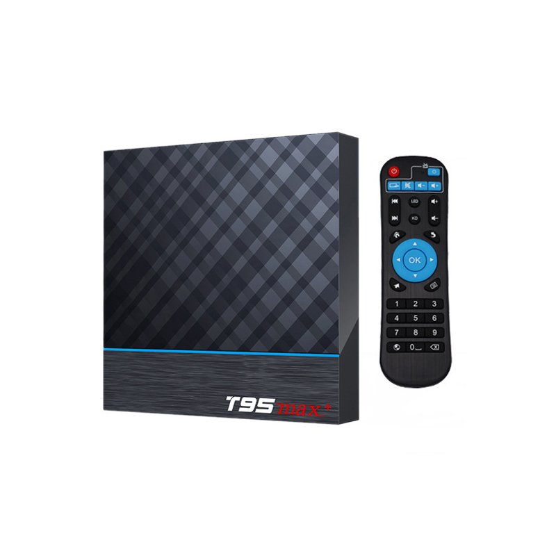 T95MAX+4GB/64GB Network High Definition Player T95MAX+Android 9.0 TV Box 4GB / 64GB EU Plug