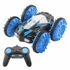 TAW-C10 2.4G Water Land Amphibious Agents Waterproof Double Side Remote Control Stunt Car Toy  blue