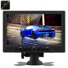TFT LCD Car Monitor  7 Inch TFT LCD Color Monitor with VGA   HDMI video inputs  remote control and stand that offers 360 degree rotation