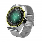 TH38 Health Monitoring <span style='color:#F7840C'>Smart</span> Reminder <span style='color:#F7840C'>Smart</span> <span style='color:#F7840C'>Watch</span> Stainless Steel Strap Photo Surface Screen Foreign language silver