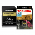 TOSHIBA EXCERIA Pro N502 SD Card 270mb s 64GB V90 Class 10 U3 UHS II Memory Card for Full HD 8k Video Camera Black gold