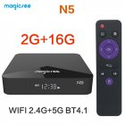 TV BOX N5 Android 9.0 TV BOX Amlogic S905X Quad-core 4K Resolution 2GB RAM 16GB ROM 2.4G 5G WiFi Set Top Box black_2 + 16GB dual WIFI British regulations