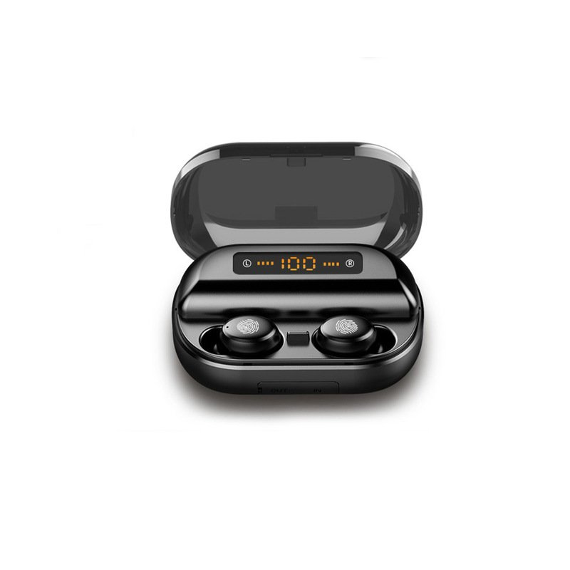 TWS 5.0 Bluetooth 9D Stereo Earphone Wireless Earphones IPX7 Waterproof Earphones Sport Headphone black