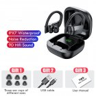 TWS Bluetooth 5.0 Earphones Wireless Hifi Stereo Sports Waterproof Sports Earbuds with LED Display Charging Box black