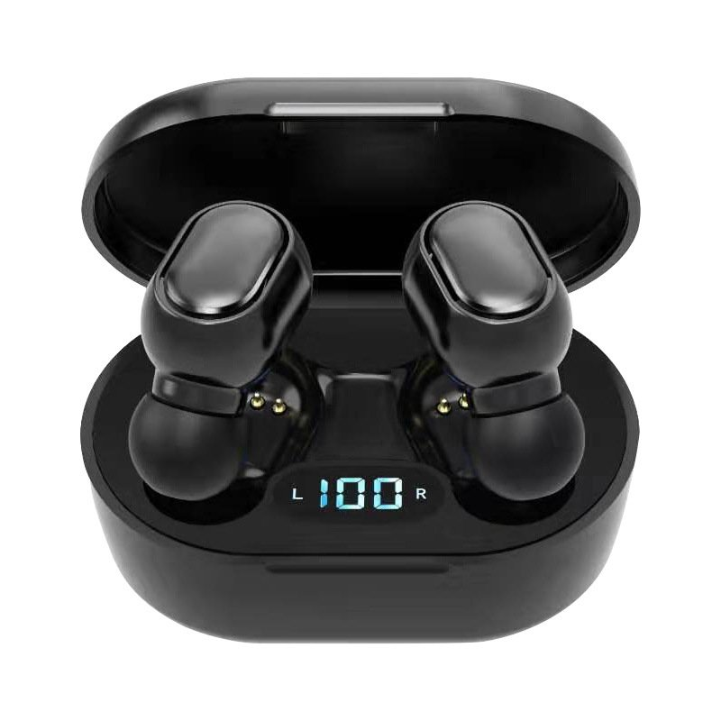 TWS Earphone Wireless Headphones Bluetooth 5.0 Sports Headset Mini In-ear Earbud Support Call Music Compatible for iOS/Android Phones Black set
