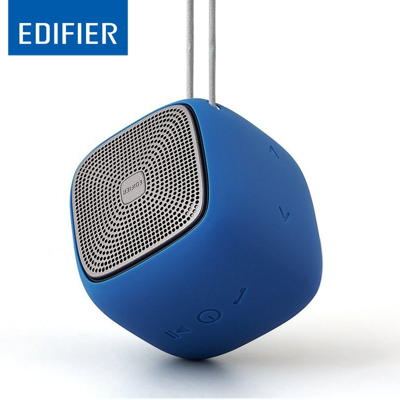 EDIFIER M200 Mini Wireless Bluetooth Speaker Super Bass Loudspeakers Waterproof Support SD Card Outdoor Music Play Compatible for Smartphones blue