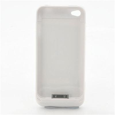 1500mAh Battery Case for iPhone 4 (White)