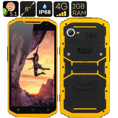 MFOX A10 Rugged Smartphone (Yellow)