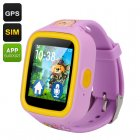 GPS Tracker Kids Watch Phone (Purple)