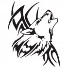 Tattoo Wolf Car Motorcycle Body Stickers Vinyl Car Styling Decal Accessories black