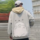 Teenager Lovers Men Women Loose Long Sleeve All Match Hooded Coat Sweatshirts gray_L