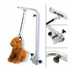 Telescopic Stainless Steel Bracket Pet Grooming Table Hanger Leash Beauty Table Accessories Silver_Telescopic