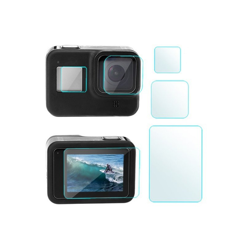 Tempered Glass Screen Film Protector Set for Gopro Hero 8 Camera Lens Protective Cover Transparent