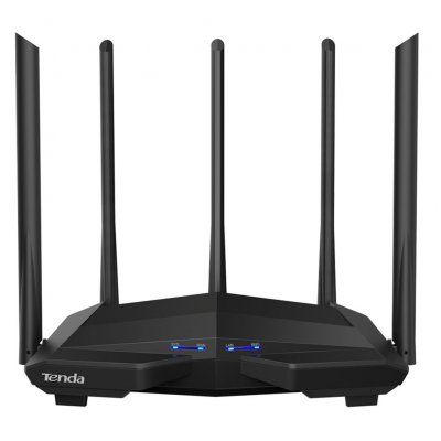 Tenda AC11 Gigabit Dual-Band AC1200 Wireless Router Wifi Repeater with 5*6dBi High Gain Antennas Wider Coverage, Easy setup