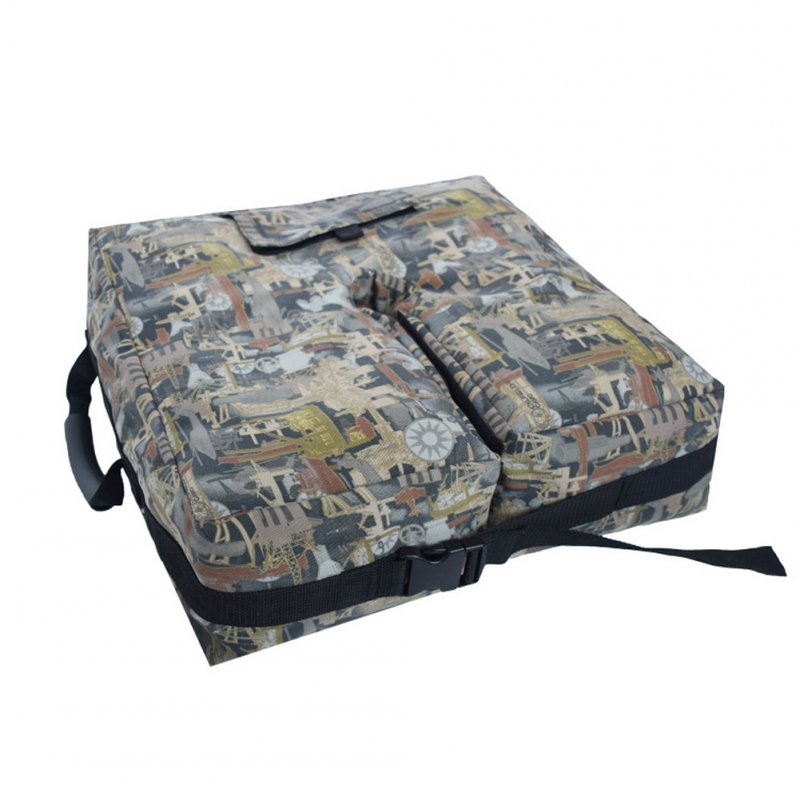 Tent Sandbag Outdoor Canopy Support Umbrella Fixed Sandbag Simple Assembly for Courtyard Airplane camouflage_46 x 46 x 15cm