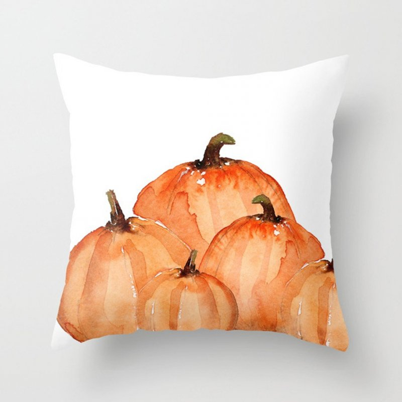 Thanksgiving Day Pumpkin Printed Throw Pillow Cover Pillowcases Decorative Sofa Cushion Cover DRD85-4_45*45cm
