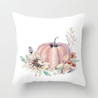 Thanksgiving Day Pumpkin Printed Throw Pillow Cover Pillowcases Decorative Sofa Cushion Cover DRD85-22_45*45cm