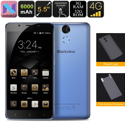 Blackview P2 Lite Android Phone (Blue)