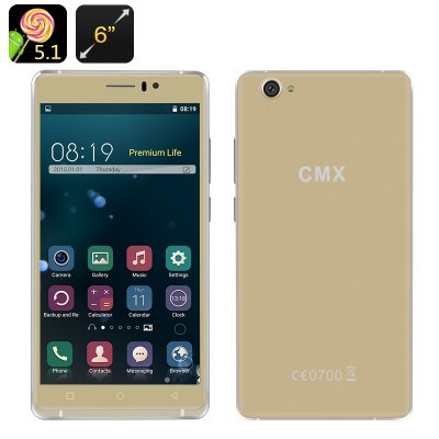 CMX Phablo 6 Inch Android Smartphone (Gold)