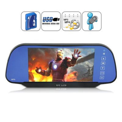 rearview mirror monitor media player