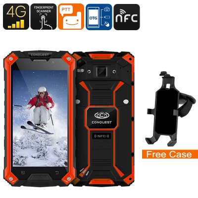 Conquest S6 Rugged Phone (Red)